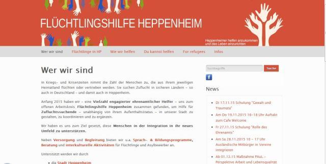 screenshot flüchtlingshilfe heppenheim